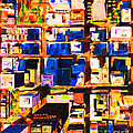 San Francisco Birdseye Abstract . Painterly Print by Wingsdomain Art and Photography