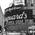 San Francisco Marquard's Little Cigar Store Powell And O'farrell Streets - 5d17954 - Black And White by Wingsdomain Art and Photography