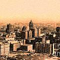 San Francisco Skyline 1909 Showing South Of Market Street by Wingsdomain Art and Photography