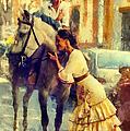 San Miguel Fair In Torremolinos by Jenny Rainbow