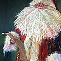 SANTA CLAUS  Making a List and Checking it Twice Print by Shelley Schoenherr
