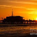 Santa Monica Pier Sunset by Paul Velgos