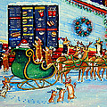 Santa's Pit Stop On  December 24th by Lyn Cook