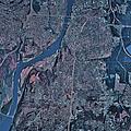 Satellite View Of Little Rock, Arkansas by Stocktrek Images