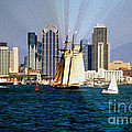 Saturday In San Diego Bay by Cheryl Young