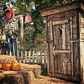 Scared Outhouse Print by Vincent Cascio