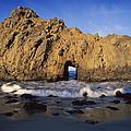 Sea Arch At Pfeiffer Beach Big Sur by Tim Fitzharris