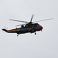 Sea King Helicopter Of The Belgian Army by Luc De Jaeger