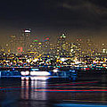 Seattle Skyline Firework Panorama by Dmitry Grekov