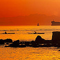 Seawall Silhouette by Matt  Trimble