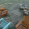 Several Lawn Chairs Scattered by Joel Sartore