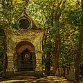 Shaded Chapel. Golden Green Series by Jenny Rainbow