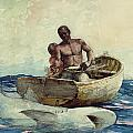 Shark Fishing by Winslow Homer