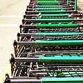 Shopping Carts Stacked Together by Skip Nall