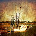 Shrimp Boat in Charleston Print by Susanne Van Hulst