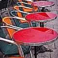 Sidewalk Cafe In Paris Print by Elena Elisseeva