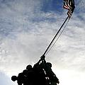 Silhouette Of The Iwo Jima Statue by Michael Wood