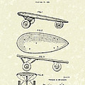 Skateboard Coaster Car 1948 Patent Art  by Prior Art Design