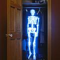 Skeleton in the closet Print by Tony Cordoza