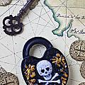 Skull And Cross Bones Lock by Garry Gay