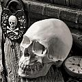 Skull and skeleton key Print by Garry Gay