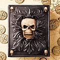 Skull Box With Skeleton Key by Garry Gay