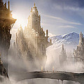 Skyrim Fantasy Ruins Print by Alex Ruiz