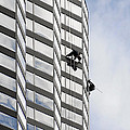 Skyscraper Window-washers - Take A Walk In The Clouds by Christine Till