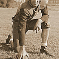 Slingin' Sammy Baugh 1937 Sepia by Padre Art