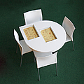 Small Cafe Table With Cookbooks by Jaak Nilson