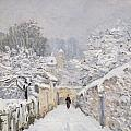 Snow at Louveciennes Print by Alfred Sisley