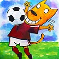 Soccer Cat 3 by Scott Nelson
