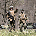 Soldiers Perform A Site Survey In Camp by Stocktrek Images