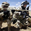 Soldiers Respond To A Threat by Stocktrek Images