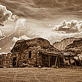 Southwest Indian Rock House And Lightning Striking by James BO  Insogna