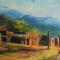 southwest village Print by robert carver