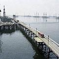 Soviet Caspian Sea Oil Fields, 1978 by Ria Novosti
