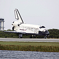 Space Shuttle Discovery On The Runway by Stocktrek Images