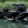 Special Forces Combat Diver Takes Print by Tom Weber
