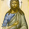 St John the Forerunner Print by Julia Bridget Hayes