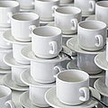 Stacks Of Cups And Saucers by Tobias Titz