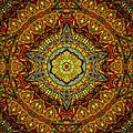 Stained Glass Gas Ring Mandala by Richard H Jones