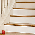 Stairs And Apple by Andersen Ross