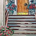 Stairs Sketchbook Project Down My Street by Irina Sztukowski