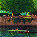 Stanley Park Scullers Poster by Neil Woodward