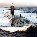 Starboard Bow View Of Attack Submarine by Stocktrek Images