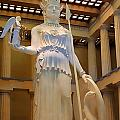 Statue Of Athena And Nike by Linda Phelps