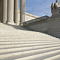 Steps and Statue of the Supreme Court Building Print by Roberto Westbrook