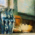 Still Life With Blue Jug by Lois Bryan