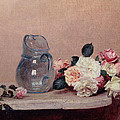 Still Life with Roses Print by Ignace Henri Jean Fantin-Latour